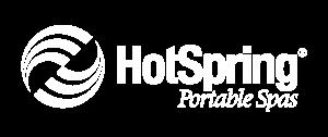 Hot Spring Spas | Logo All White